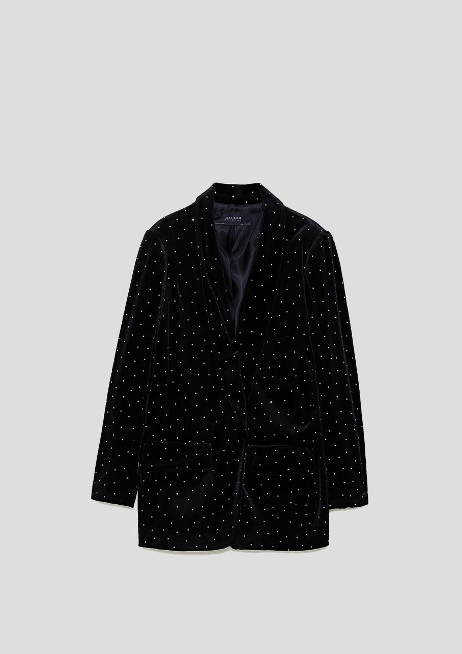 Zara Grande Veste Avec La Mode Brillants Ugljzvpqsm 0wmvN8nO