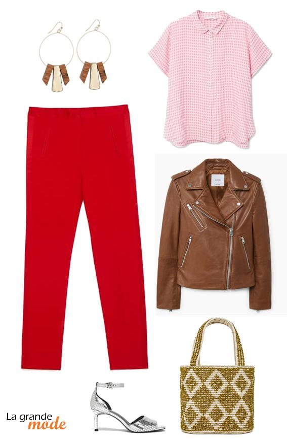 La Grande Mode - Idée look pantalon à couleur - Tendance mode printemps 2018