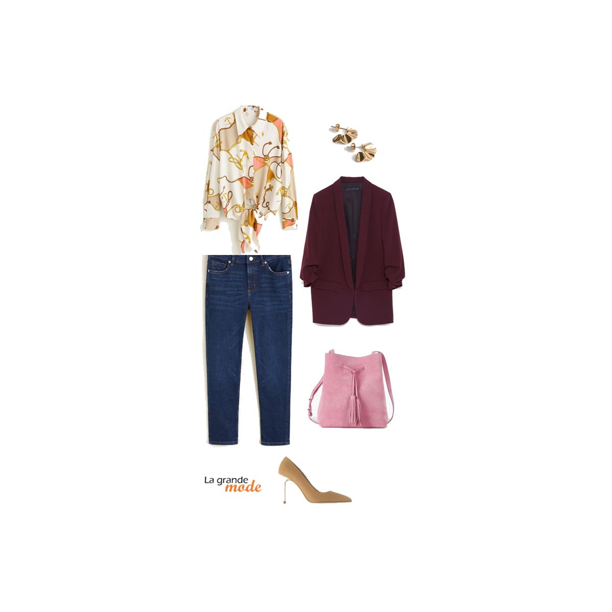 La Grande Mode - Idée look avec une chemise imprimé chaînes - Tendance Mode printemps été 2019 - SS2019