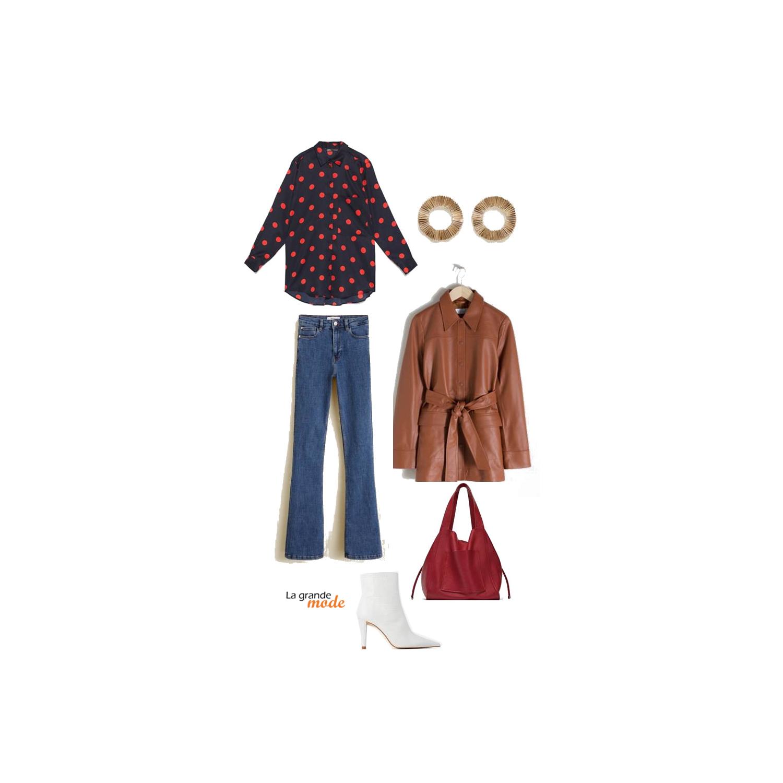 La Grande Mode - Idée look avec des bottines blanches - Tendance Mode Printemps Eté 2019