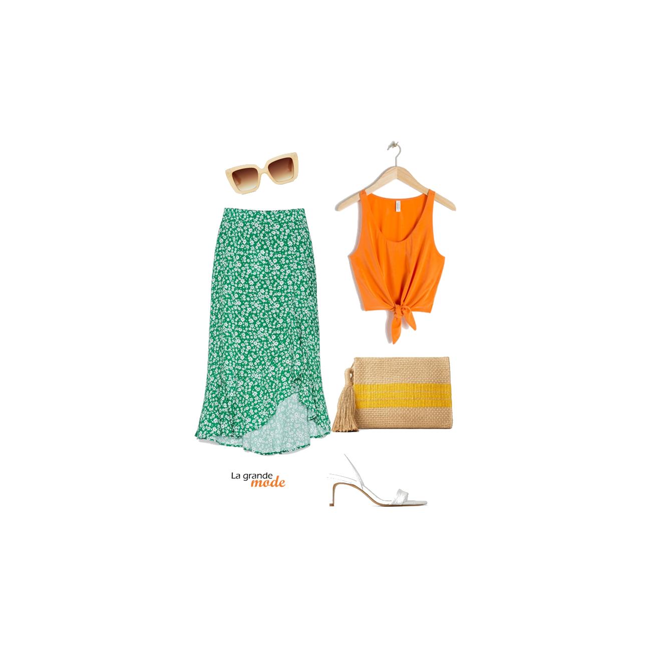 La Grande Mode - Idée look avec une jupe à fleurs - Tendance mode printemps été 2019 - SS2019
