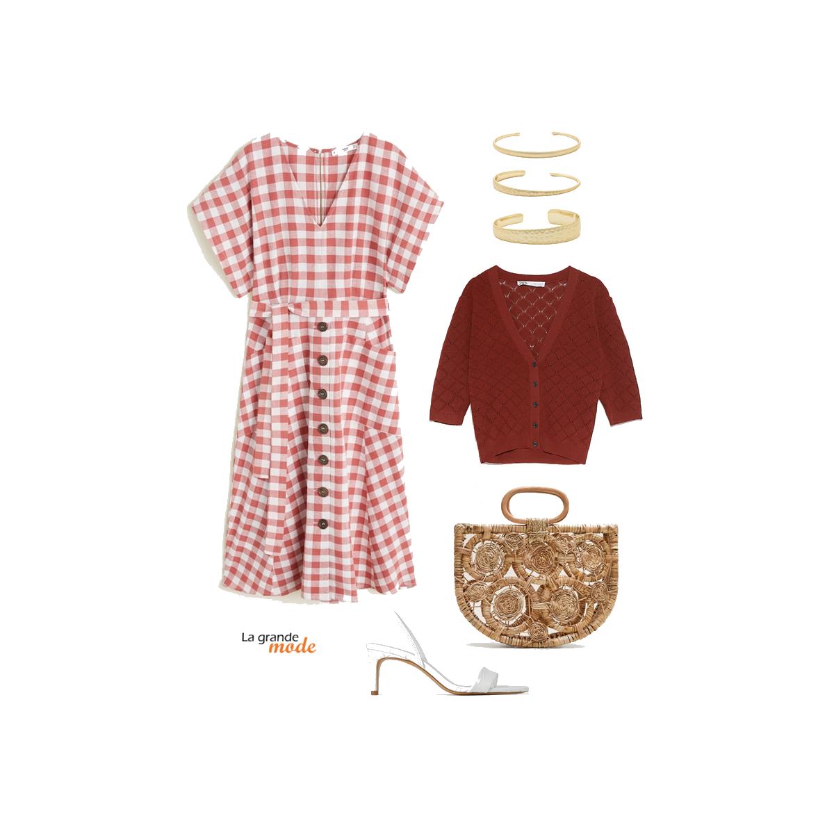 La Grande Mode - Idée look avec une robe vichy - Tendance mode printemps été 2019