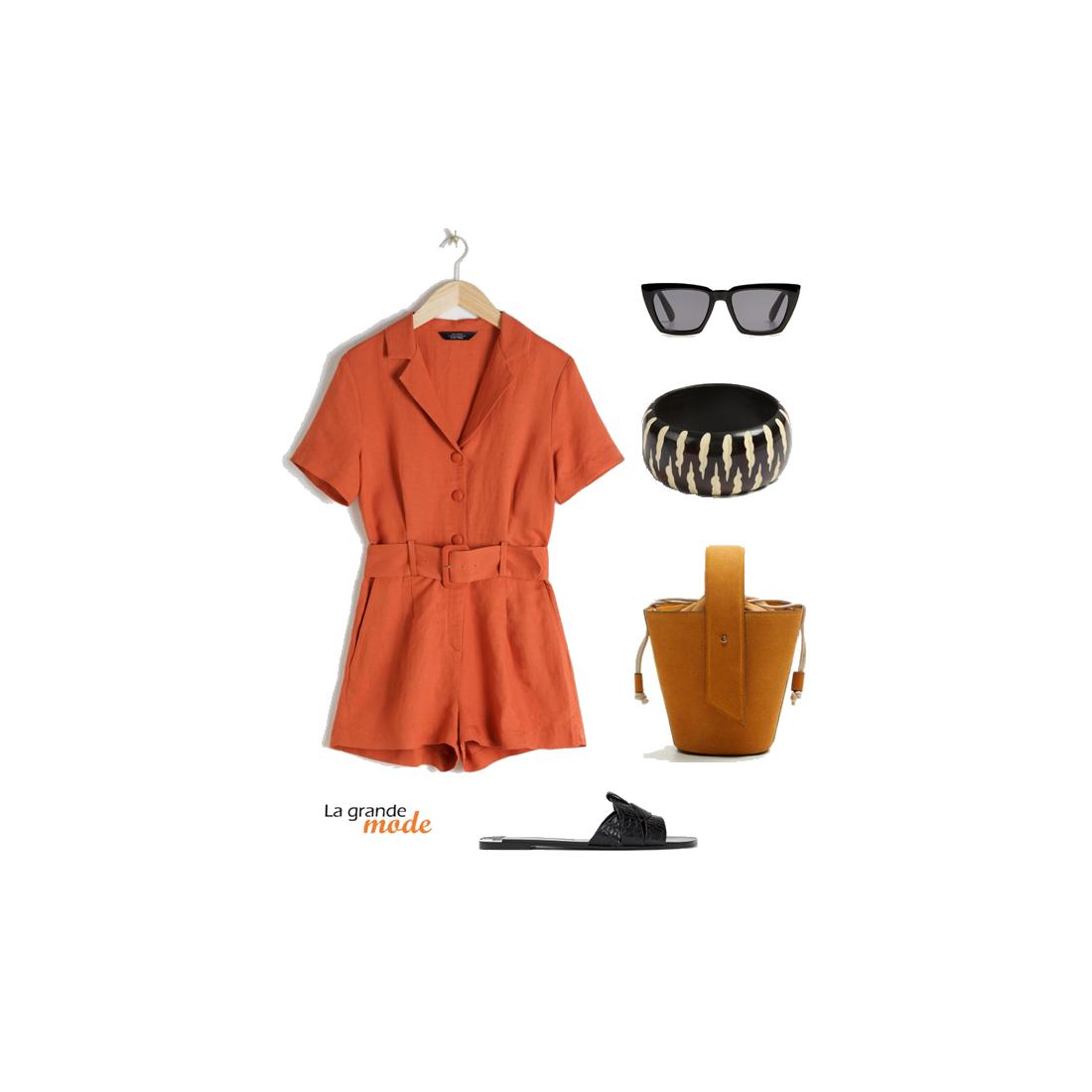 La Grande Mode - Idée look combishort et claquettes - Tendance mode - Printemps été 2019