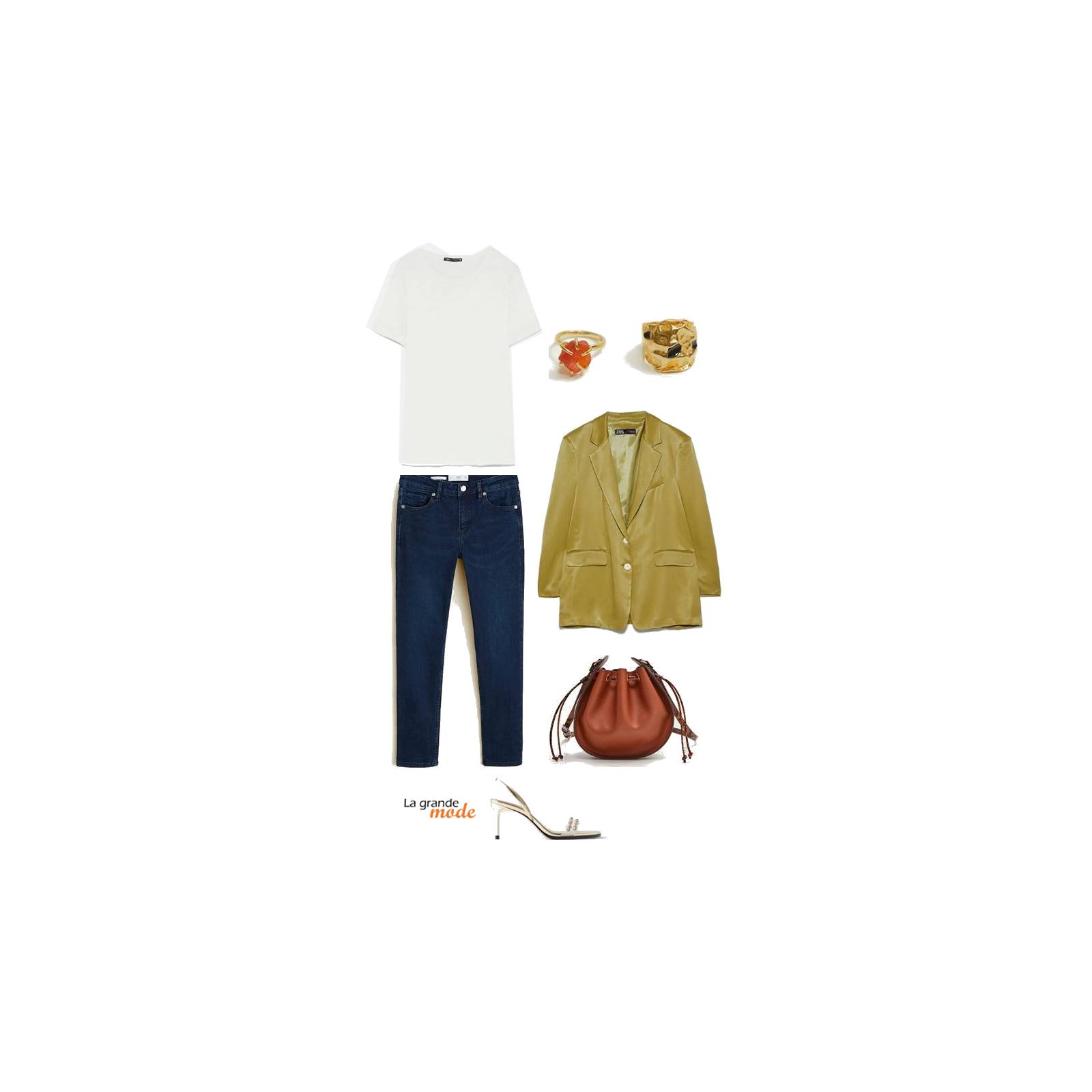La Grande Mode - Idée look avec une veste satinée - Tendance Mode automne hiver 2019