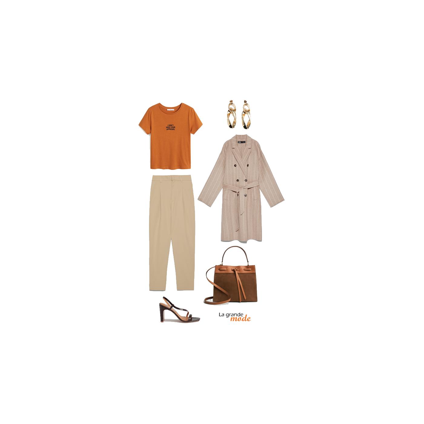 La Grande Mode - Idée look avec un pantalon à pinces - Tendance mode automne hiver 2019