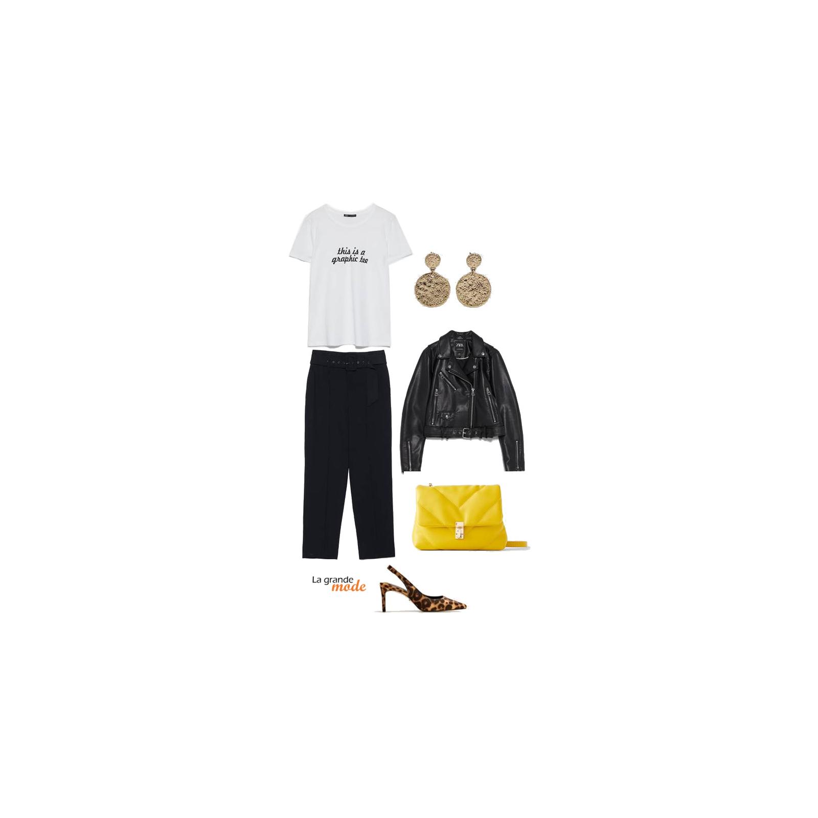 La Grande Mode - Idée look avec un t-shirt à inscription - Tendance mode automne hiver 2019