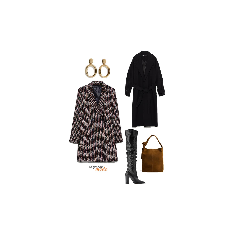 La Grande Mode - Idée look avec une robe-veste et des cuissardes - Tendance Mode automne-hiver 2019